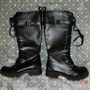 Volatile Black Combat Boots